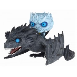 Juego de Tronos POP! Rides Vinyl Figura Night King & Viserion 15 cm
